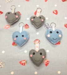 Heart Keyrings