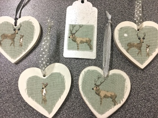 Chic Stag Wooden Hearts