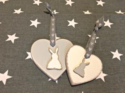 Wooden Bunny Heart by chandeliersandorses.com